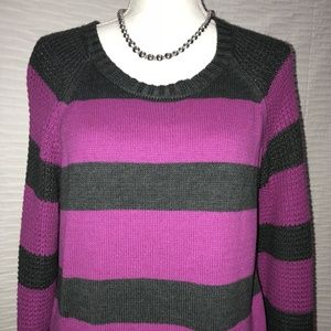Stripes Sweater by DKNY Jeans Large